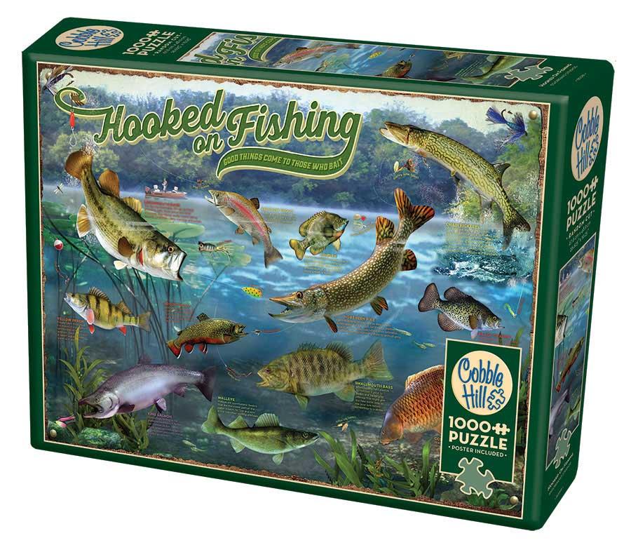 Puzzle Cobble Hill Enganchado a la Pesca de 1000 Piezas