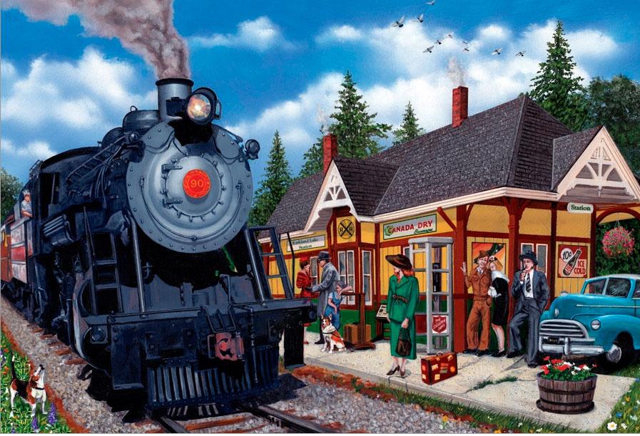 Puzzle Cobble Hill Estación del Lago Kirkland de 2000 Piezas