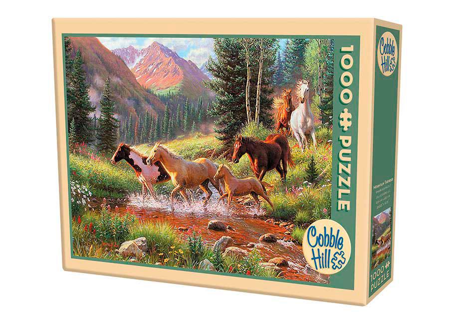 Puzzle Cobble Hill Estampida en la Montaña de 1000 Piezas