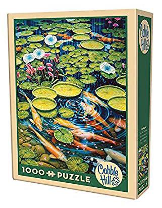 Puzzle Cobble Hill Estanque Koi de 1000 Piezas
