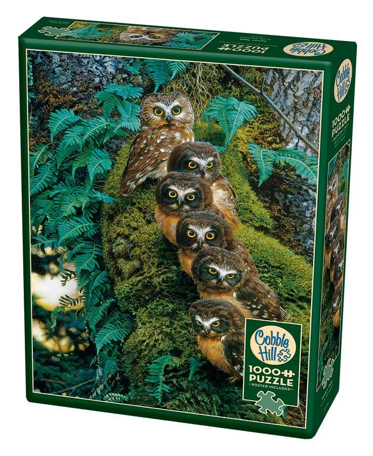 Puzzle Cobble Hill Familia de Búhos en el Árbol de 1000 Piezas