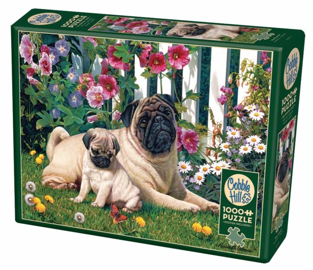 Puzzle Cobble Hill Familia de Pugs de 1000 Piezas