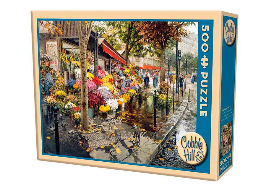Puzzle Cobble Hill Flores de Otoño en París de 500 Piezas