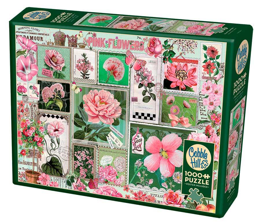 Puzzle Cobble Hill Flores Rosas de 1000 Piezas