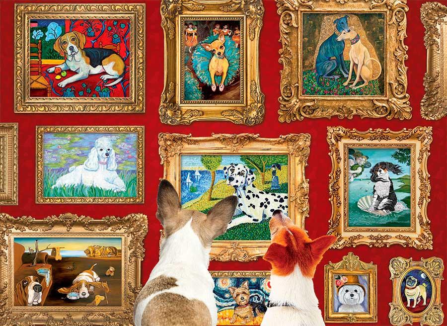 Puzzle Cobble Hill Galería de Perros de 1000 Piezas