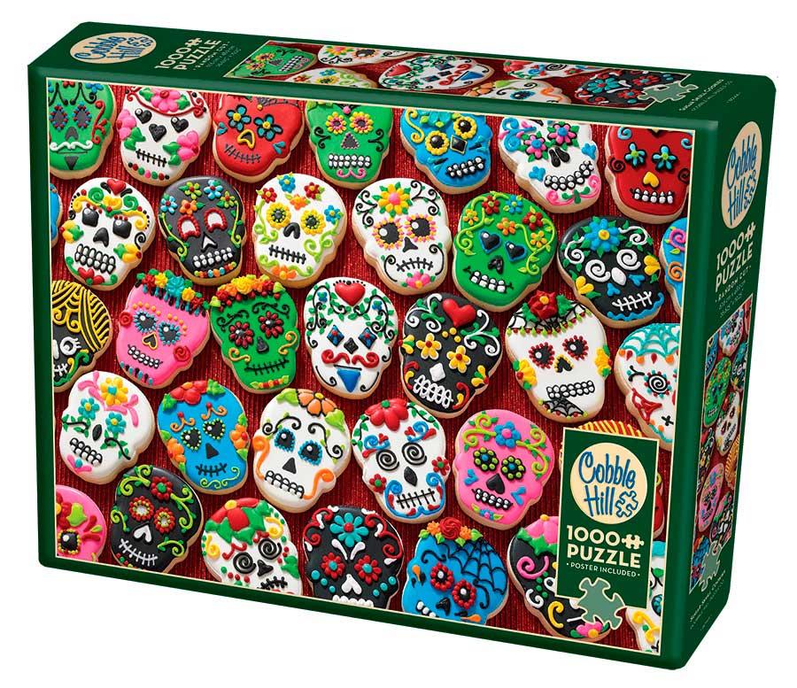 Puzzle Cobble Hill Galletas de Calavera de Azúcar de 1000 Piezas