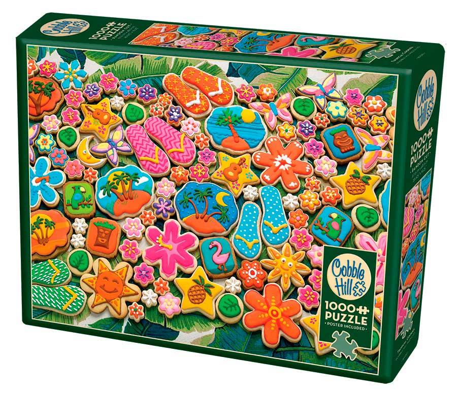 Puzzle Cobble Hill Galletas Tropicales de 1000 Piezas