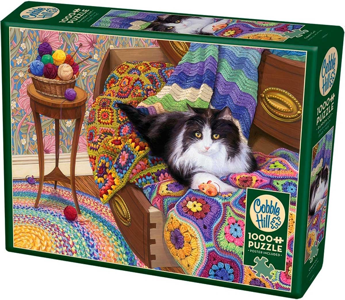 Puzzle Cobble Hill Gato Comodón de 1000 Piezas