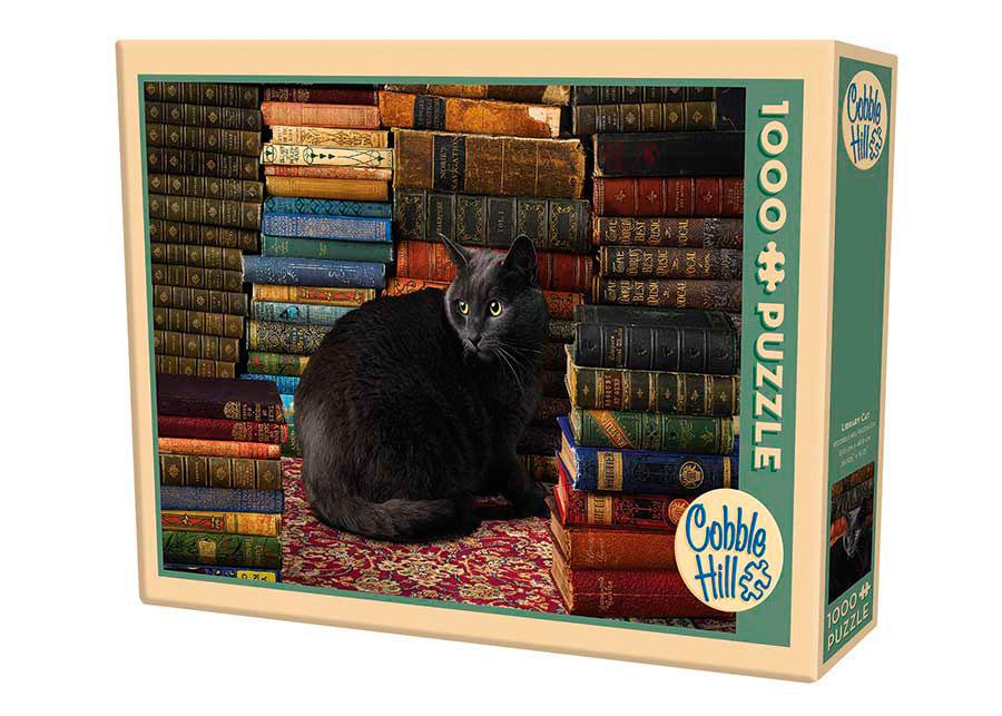 Puzzle Cobble Hill Gatos de Biblioteca de 1000 Piezas