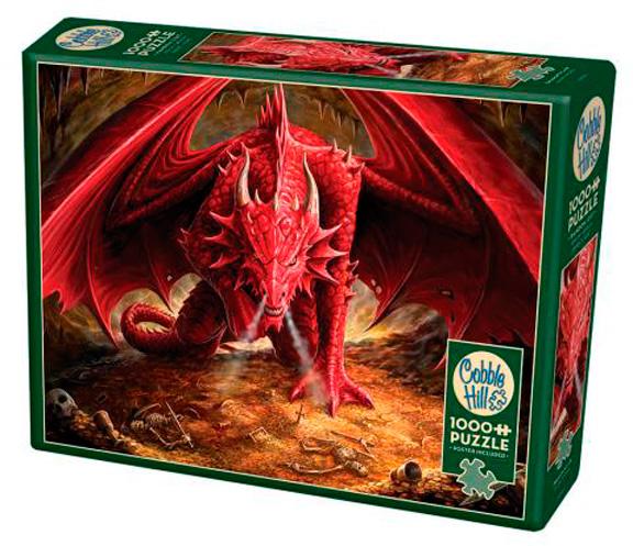 Puzzle Cobble Hill Guarida del Dragón Rojo de 1000 Piezas