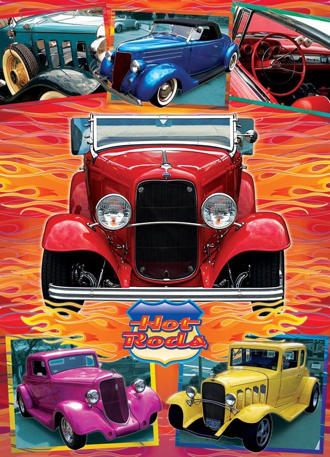 Puzzle Cobble Hill Hot Rods, Vintage Cars de 1000 Piezas