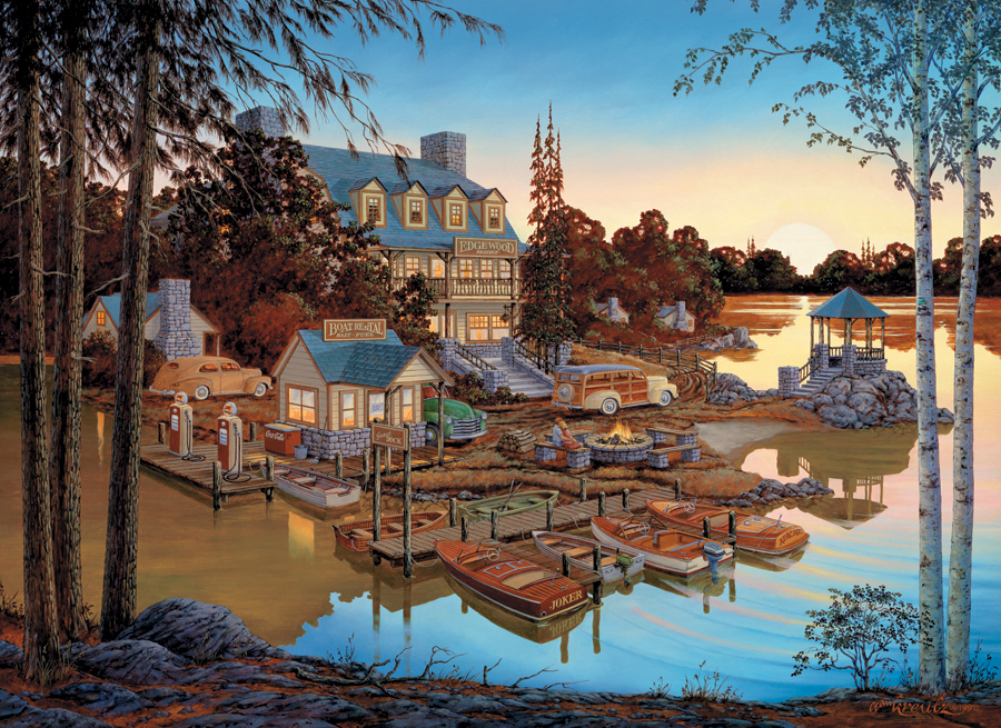 Puzzle Cobble Hill Hotel en el Lago de 1000 Piezas