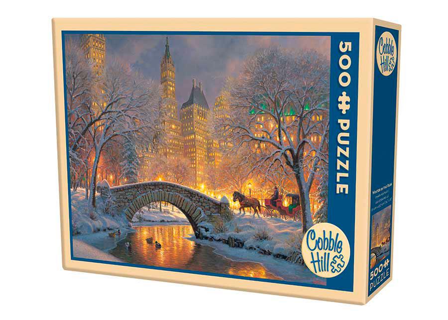Puzzle Cobble Hill Invierno en el Parque de 500 Piezas