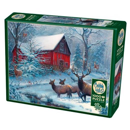 Puzzle Cobble Hill Invierno Mágico de 1000 Piezas