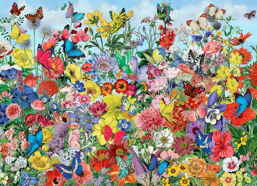 Puzzle Cobble Hill Jardín de Mariposas de 1000 Piezas