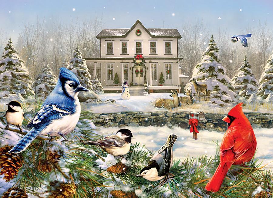 Puzzle Cobble Hill La Casa de Invierno de los Pájaros 1000 Pieza