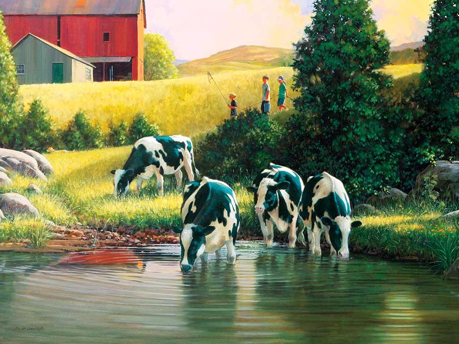 Puzzle Cobble Hill La Granja de Vacas 500 Piezas