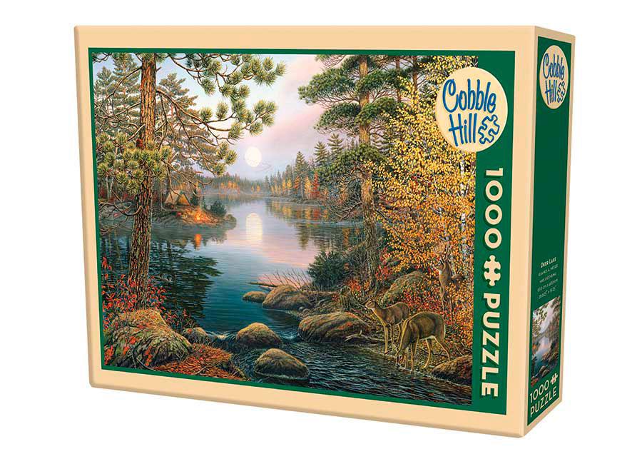 Puzzle Cobble Hill Lago de los Ciervos de 1000 Piezas