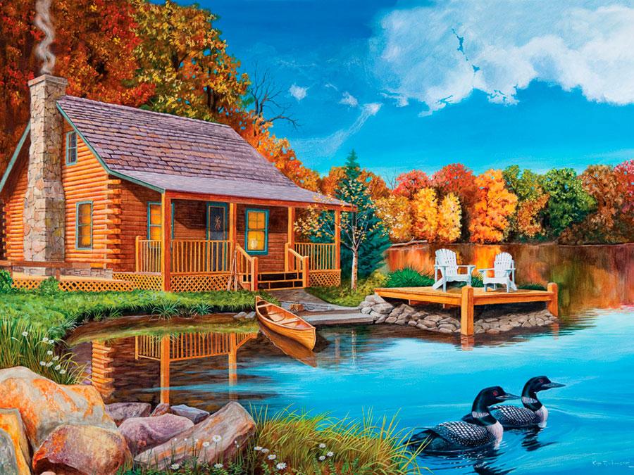 Puzzle Cobble Hill Lago Loon de 500 Piezas