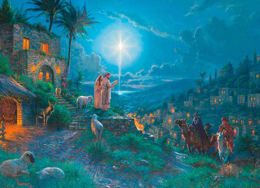 Puzzle Cobble Hill Llegada de los Reyes Magos de 1000 Piezas