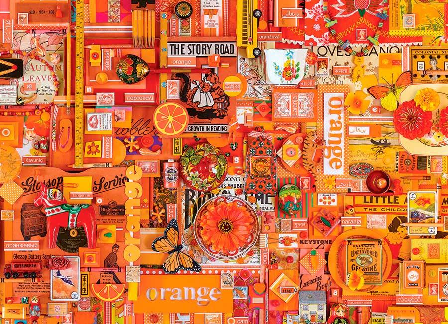 Puzzle Cobble Hill Naranja de 1000 Piezas