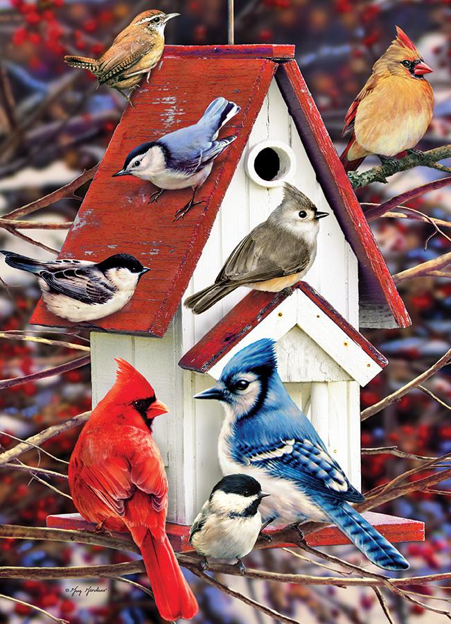 Puzzle Cobble Hill Nido de Invierno de Pájaros 1000 Piezas