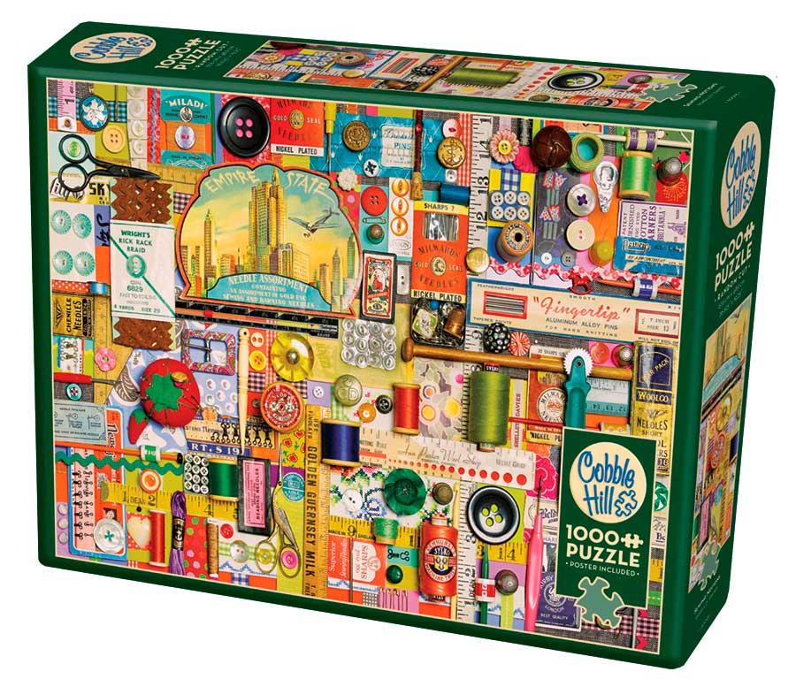 Puzzle Cobble Hill Nociones de Costura de 1000 Piezas