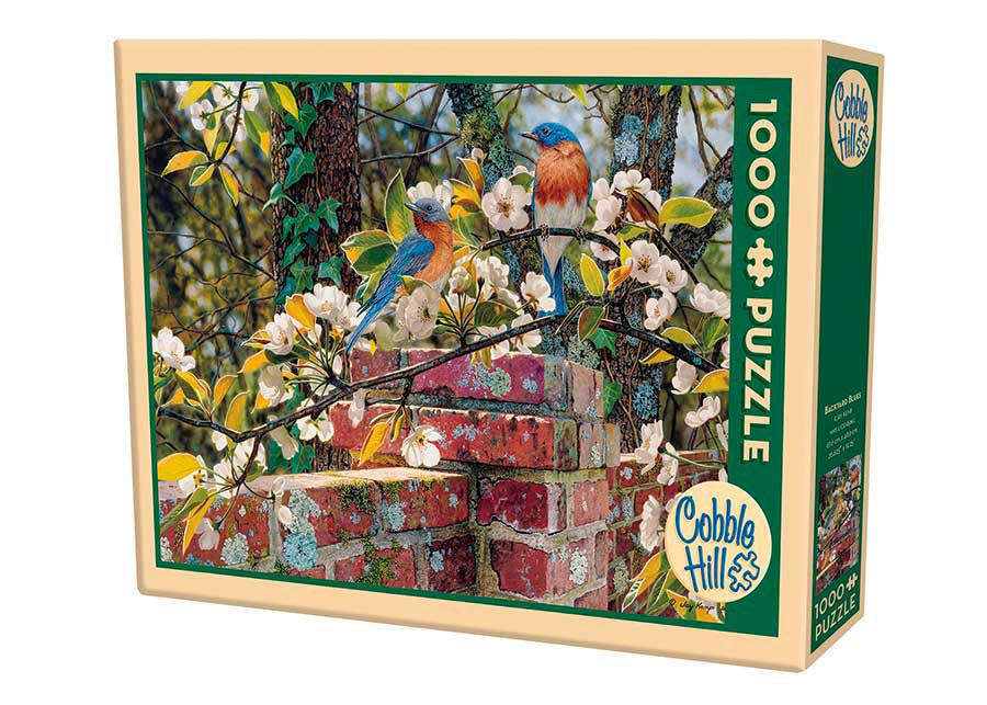Puzzle Cobble Hill Pájaros Azules en el Patio de 1000 Piezas
