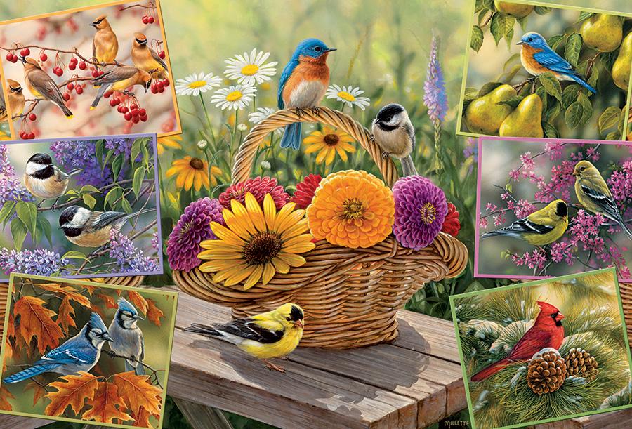 Puzzle Cobble Hill Pájaros Sobre las Flores de 2000 Piezas
