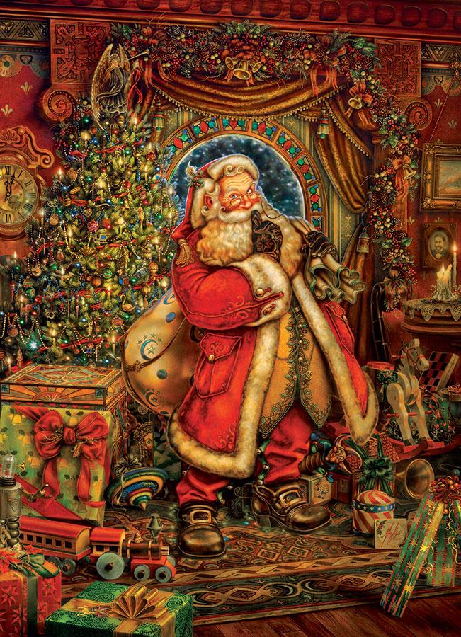 Puzzle Cobble Hill Papa Noel, La Navidad de 1000 Piezas