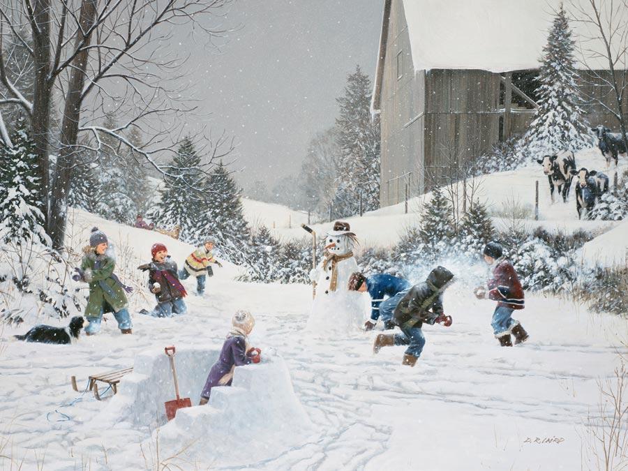 Puzzle Cobble Hill Pelea de Bolas de Nieve 500 Piezas