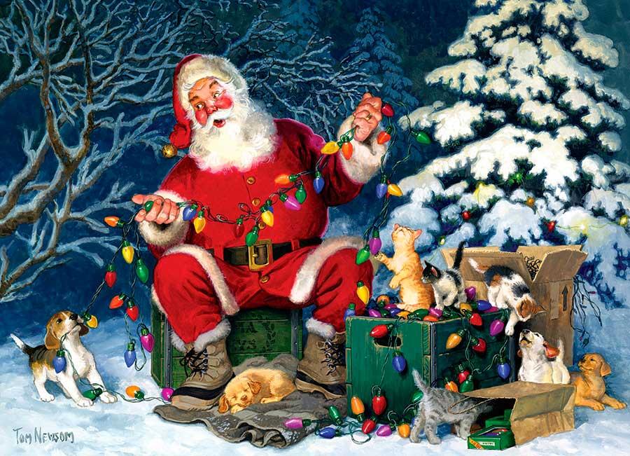 Puzzle Cobble Hill Pequeño Ayudante de Papá Noel de 500 Piezas