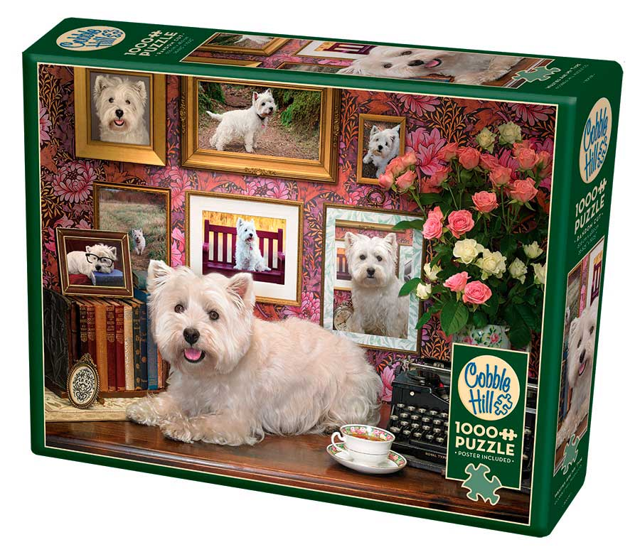 Puzzle Cobble Hill Perritos Westies de 1000 Piezas