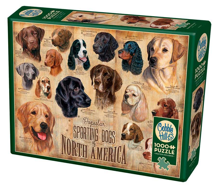 Puzzle Cobble Hill Perros Deportivos de 1000 Piezas