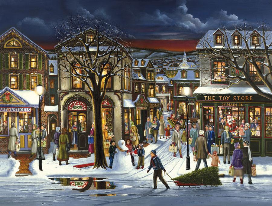 Puzzle Cobble Hill Preparando la Navidad de 500 Piezas