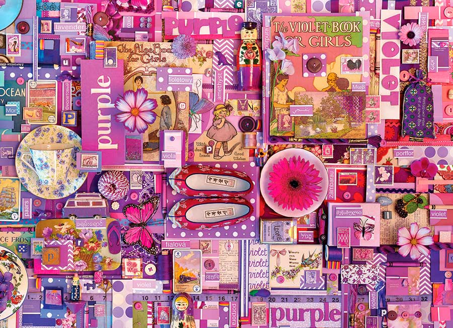 Puzzle Cobble Hill Púrpura de 1000 Piezas