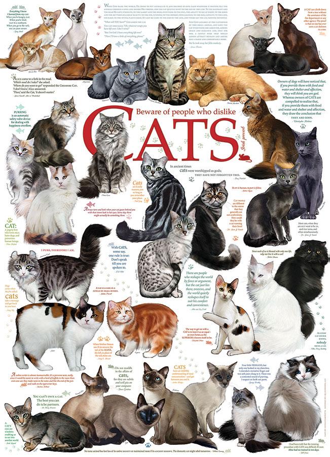 Puzzle Cobble Hill Razas de Gatos de 1000 Piezas