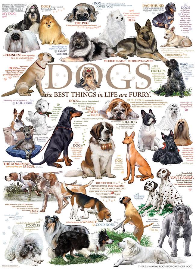 Puzzle Cobble Hill Razas de Perros de 1000 Piezas