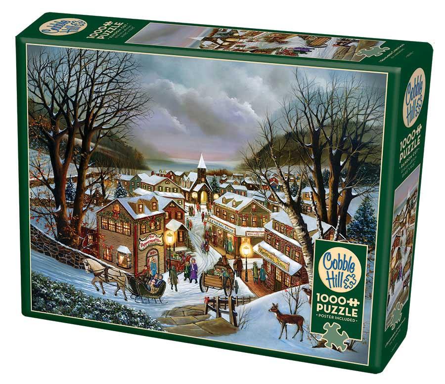 Puzzle Cobble Hill Recuerdo de Navidad de 1000 Piezas
