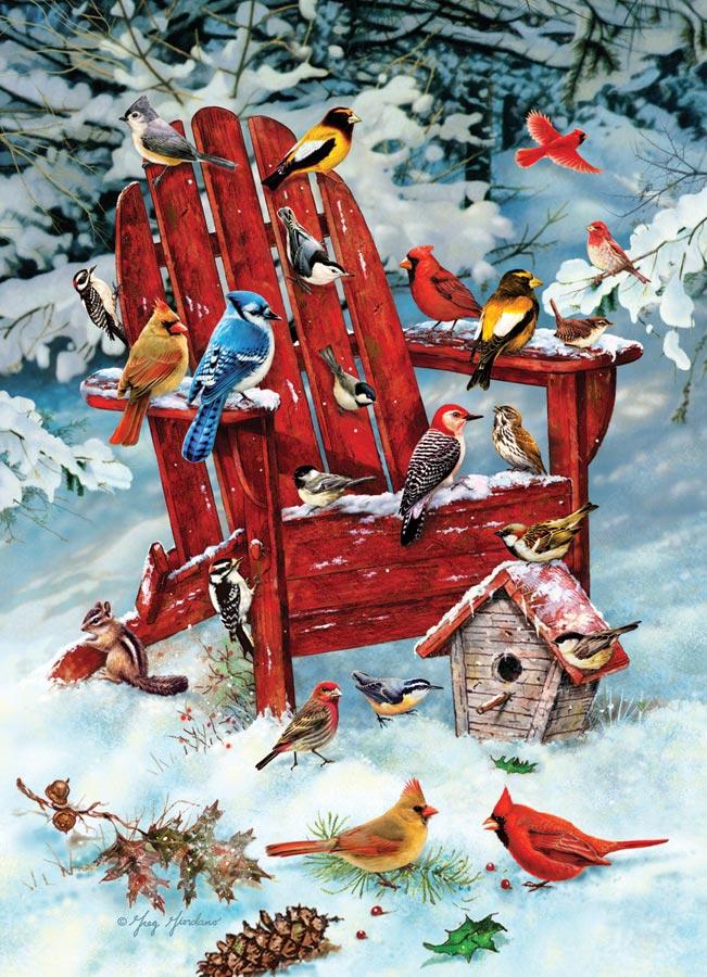 Puzzle Cobble Hill Retiro Invernal de Pájaros de 1000 Piezas