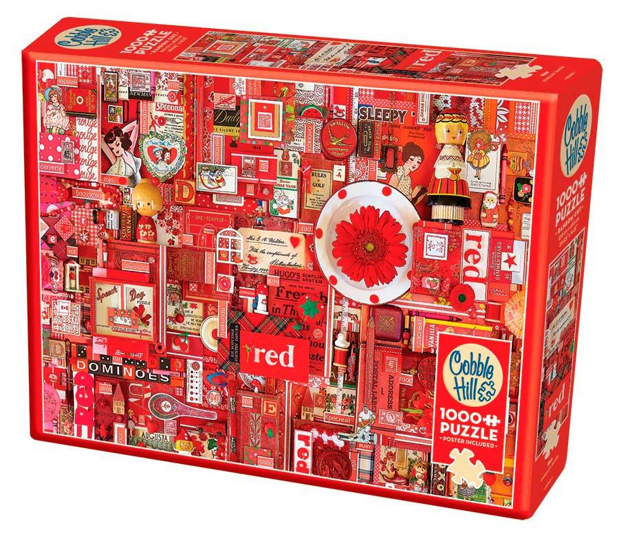 Puzzle Cobble Hill Rojo de 1000 Piezas
