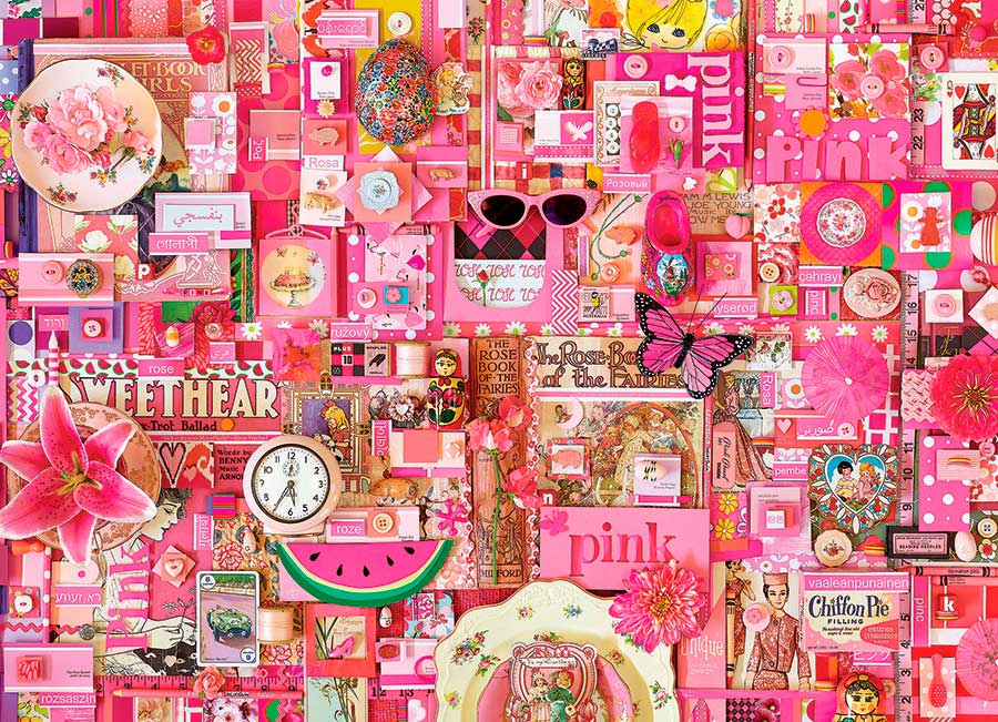 Puzzle Cobble Hill Rosa de 1000 Piezas
