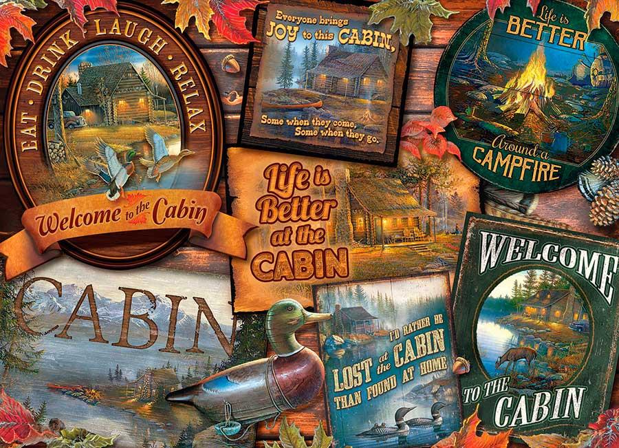 Puzzle Cobble Hill Señales de Cabañas de 1000 Piezas