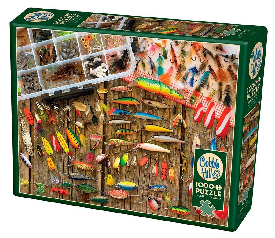 Puzzle Cobble Hill Señuelos de Pesca de 1000 Piezas