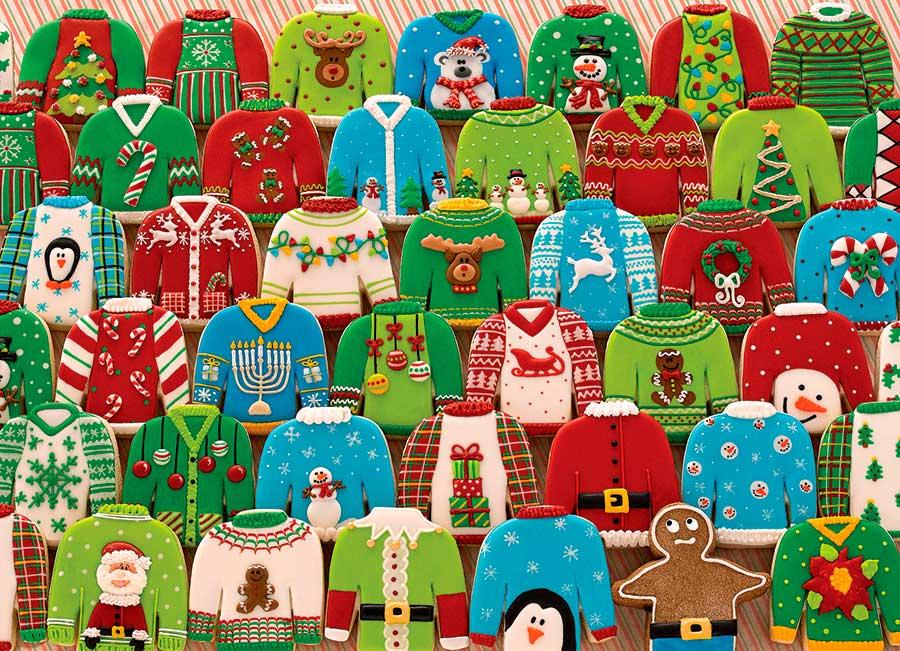Puzzle Cobble Hill Suéteres Navideños de 1000 Piezas