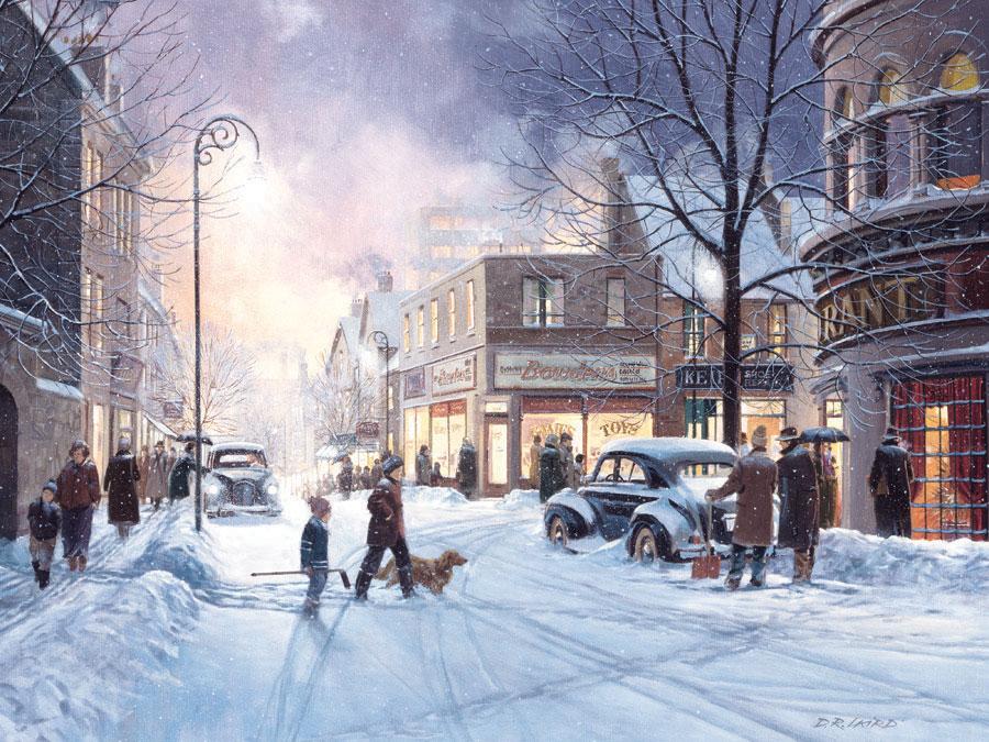 Puzzle Cobble Hill Tarde de Invierno de 500 Piezas