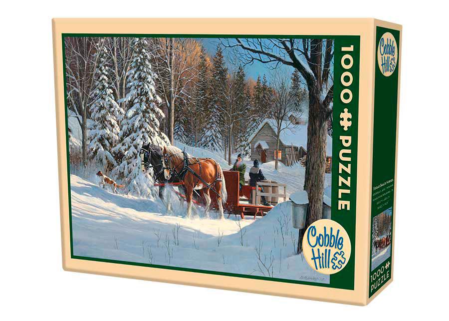 Puzzle Cobble Hill Trineo de Caballos en la Nieve de 1000 Piezas
