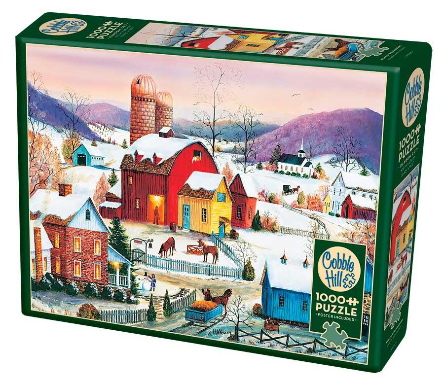 Puzzle Cobble Hill Vecinos de Invierno de 1000 Piezas
