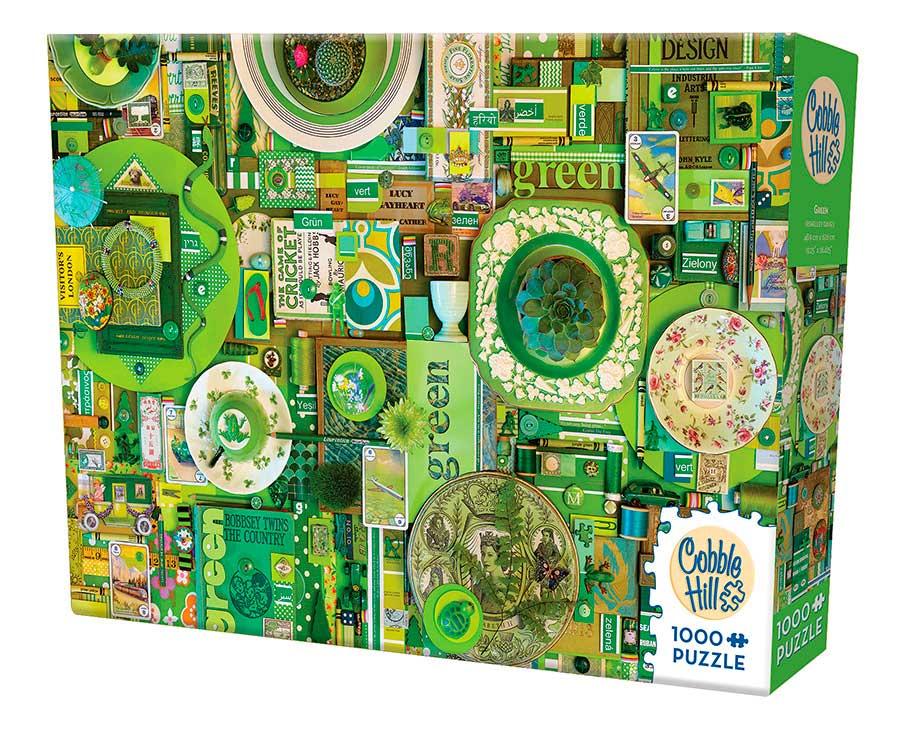 Puzzle Cobble Hill Verde de 1000 Piezas