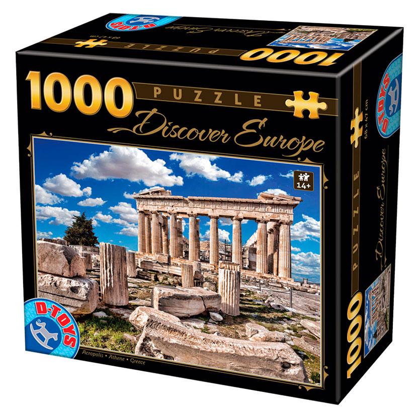 Puzzle D-Toys Acrópolis, Atenas de 1000 Piezas